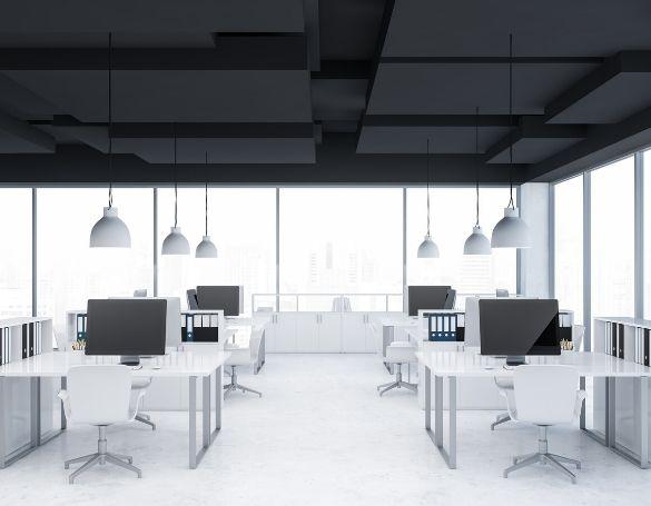 zwart systeemplafond - plafondplaatje.nl